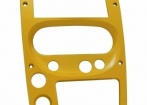 Moldura 2Din Amarela - Troller T4