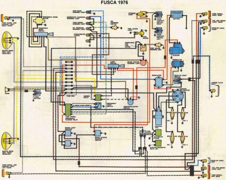 D Parte Eletrica Do Fusca Esquema on 94 Ford Wiring Diagram