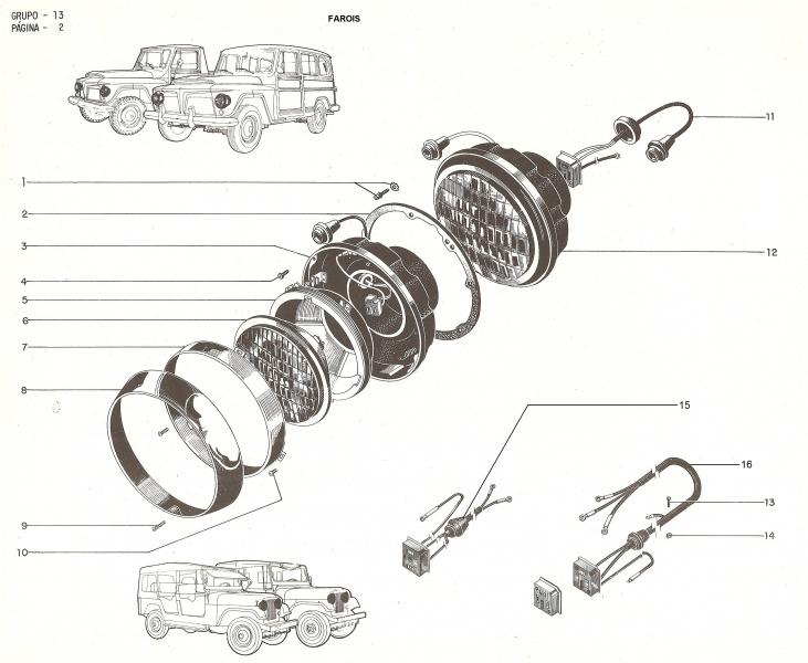 farol jeep willys cj5