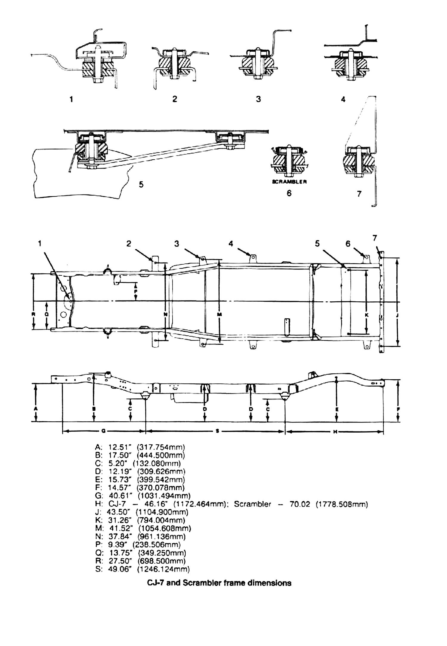 Desenho Esquematico Com Medidas Do Chassi Do Cj 7