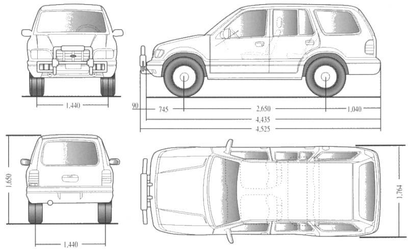 Quanto mede a sportage for Medidas de un carro arquitectura