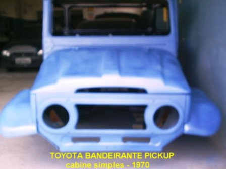 Cabine Toyota Bandeirante - pickup Simples