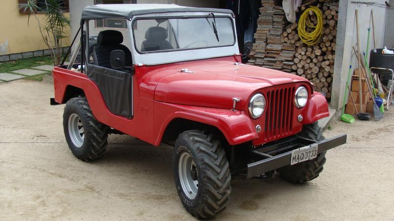 D Vendo Jeep Willys Cj Vermelho Imagem