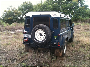Land Rover Defender 110 SW 2000/2000 Azul com Teto Branco-img_5730.jpg