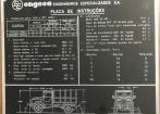 plaqueta Caminhão Engesa EE-15