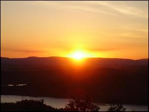 Aquela foto tradicional do por do sol.