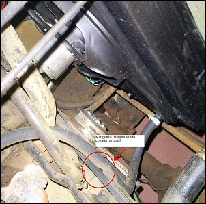 magueira: cagadinha de instalação: a mangueira foi cortada pela correia do motor, por isso a brincadeira só durou duas horas e perdi o feriadão.