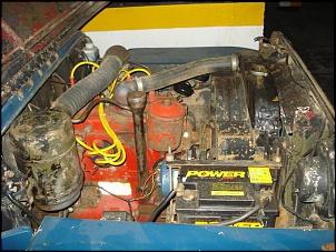 Foto do motor: lado esquerdo ...    vai dá um trabalho bacana