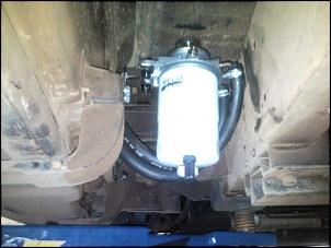 Posicionamento antigo atrás do estribo do lado do motorista