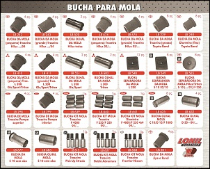 Buchas de Fecho de Molas.  Diversas Marcas e Modelos.  Fabricadas em Borracha de Pneu.  Maior durabilidade com preço justo.