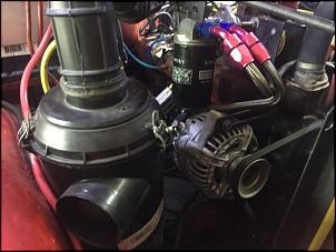 Filtro de Ar da S10, tubulação do filtro ao carburador é de um carro da Fiat que não me lembro qual é, mas também comprei novo. Alternador de Vectra...
