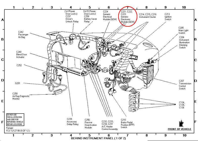 esquema el u00e9trico do motor de tra u00e7 u00e3o da ranger