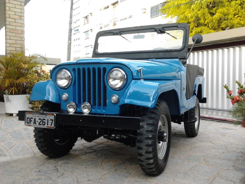 Projeto Jeep Willys Ford 1968 Azul