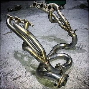 Coletor de escape trincado motor V6 6G72 /4/5 Coletor tubular dimensionado-31947397_458358651265454_7319236700360671232_o.jpg